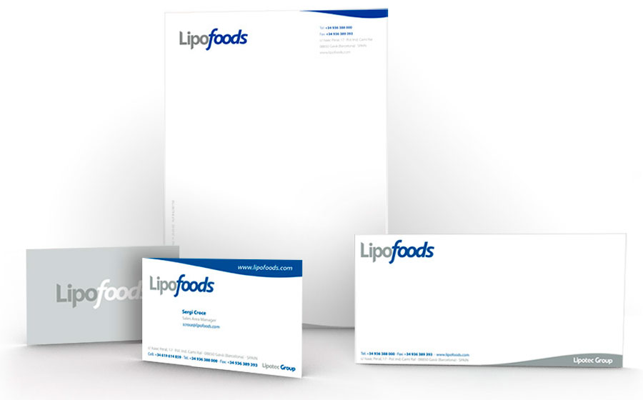 Papelería y tarjeta Lipofoods