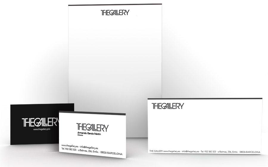 Papel de carta y tarjeta The Gallery