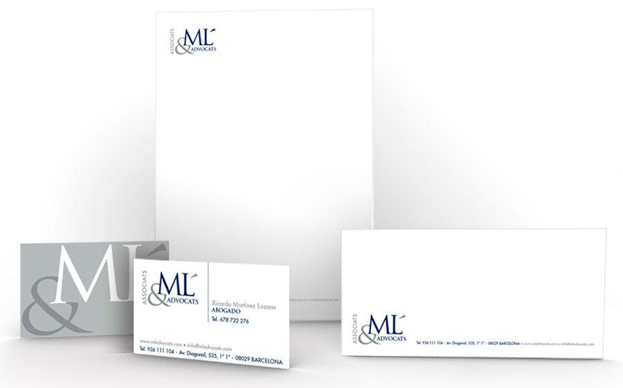 Papelería y tarjeta ML Advocats