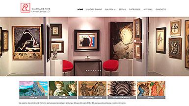 Web Galería David Cervelló