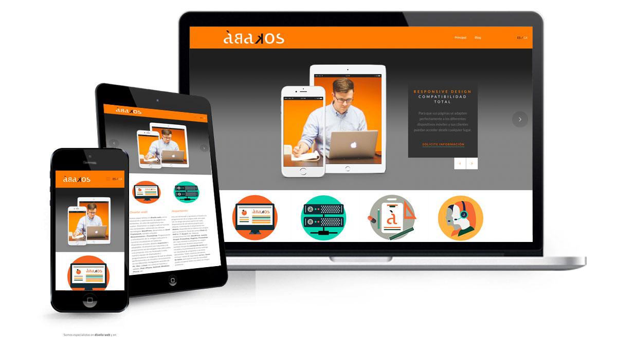 Diseño web responsive o adaptable a ordenadores, telefonos móviles y tablets
