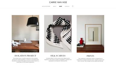 Van Hise. Diseño y dirección de arte. Láminas decorativas, pañuelos de seda exclusivos.