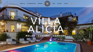 web Villa Alicia Sitges